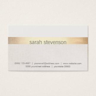 """A textura chique """"olhar"""" do ouro e do linho cartão de visitas"""