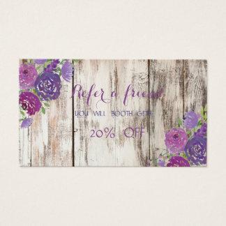 A textura elegante, de madeira, floresce o cartão