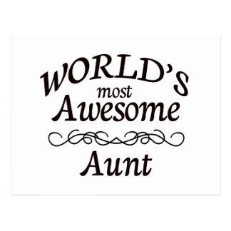 A tia a mais impressionante do mundo cartão postal