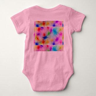 A tiragem colorida das crianças brilhante body para bebê