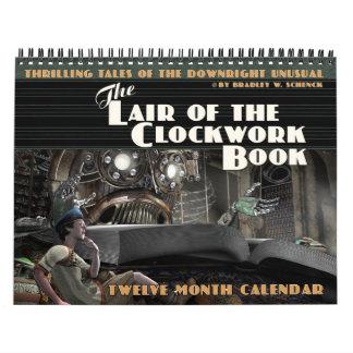 A toca do calendário do livro do maquinismo de