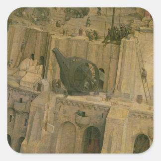 A torre de Babel Adesivo Quadrado