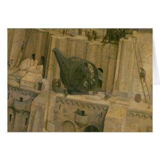 A torre de Babel Cartão Comemorativo