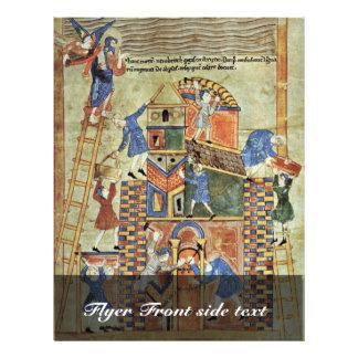 A torre de Babel pelo DES de Meister Der Paraphras Panfletos Coloridos