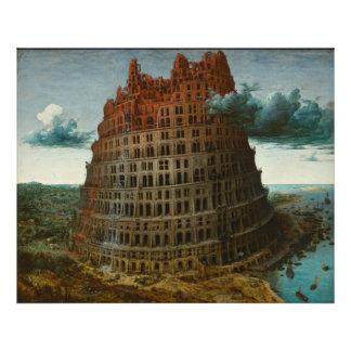 A torre de Babel pequena por Pieter Bruegel Foto Artes