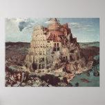 A torre de Babel - Pieter Bruegel a pessoa idosa Poster