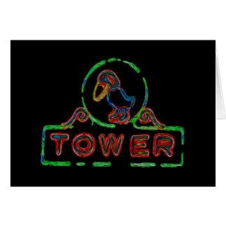 A torre de Jayhawk Cartão
