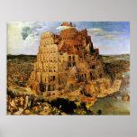 "A torre de Pieter Bruegel ""de Babel"" (cerca de 156 Poster"