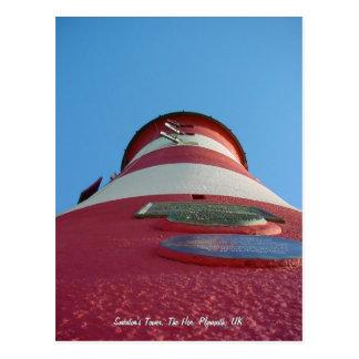 A torre de Smeaton, cartão do Hoe de Plymouth