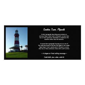 A torre de Smeaton, Hoe de Plymouth 10.16 X 22.86cm Panfleto