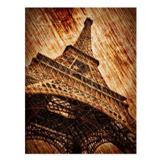 A torre Eiffel Cartão Postal