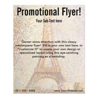 A torre Eiffel por Georges Seurat Flyer 11.43 X 14.22cm