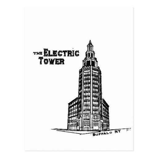 a torre elétrica cartoes postais