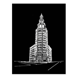 a torre/preto elétricos cartão postal
