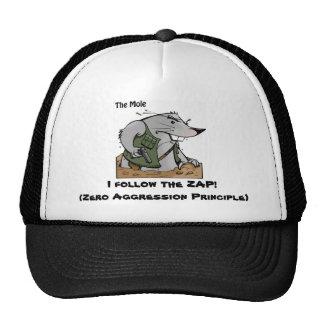 A toupeira ZAP o chapéu Boné
