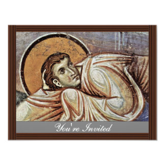 A transfiguração do cristo por Meister Von Nere Convite 10.79 X 13.97cm