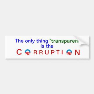 A transparência corrompida de Obama Adesivo Para Carro