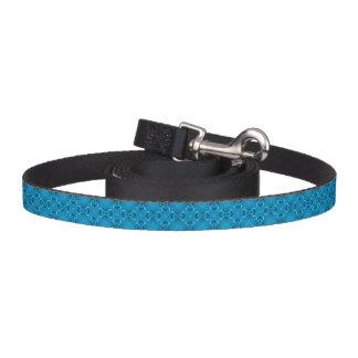 A trela do cão do caleidoscópio dos azuis coleira para cão