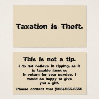 A tributação é roubo: Cartão da ponta