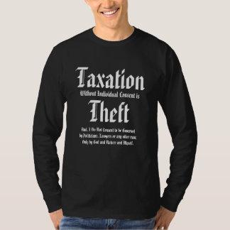 A tributação sem acordo individual é roubo t-shirts