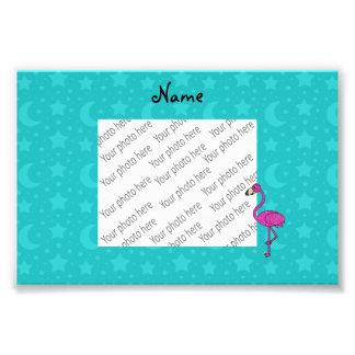 A turquesa conhecida personalizada do flamingo impressão de foto