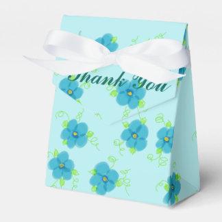 A turquesa floresceu a caixa do favor do envelope