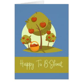 A Turquia feliz B'Shvat Cartão Comemorativo
