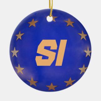 A UE de Slovenia embandeira enfeites de natal