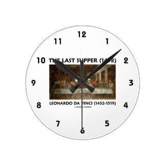A última ceia (1498) por Leonardo da Vinci Relógios Para Paredes