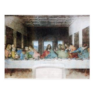 A última ceia pelo cartão de da Vinci