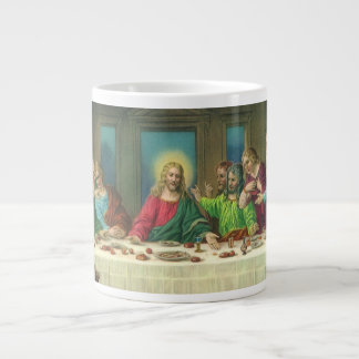 A última ceia por Leonardo da Vinci Caneca De Café Gigante