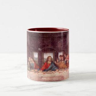 A última ceia por Leonardo da Vinci, renascimento Caneca De Café Em Dois Tons