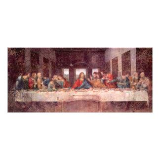 A última ceia por Leonardo da Vinci, renascimento 10.16 X 22.86cm Panfleto