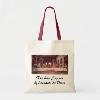 A última ceia por Leonardo da Vinci, renascimento Sacola Tote Budget