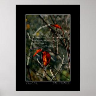 A última dança do outono com poster de Shakespeare