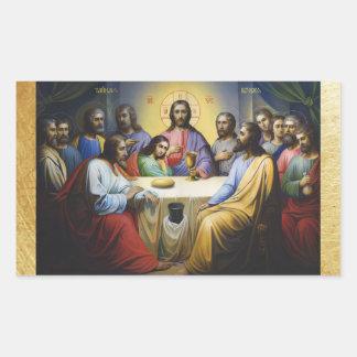 A última etiqueta do Natal do Jesus Cristo do