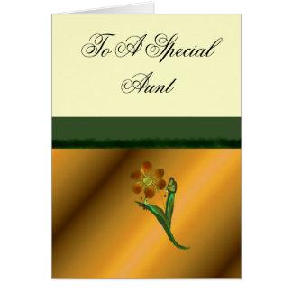 A uma tia especial cartão comemorativo