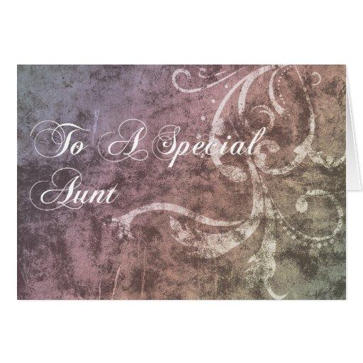 A uma tia especial cartao