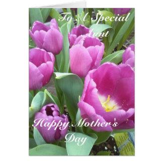 A uma tia especial, dia das mães feliz cartão comemorativo