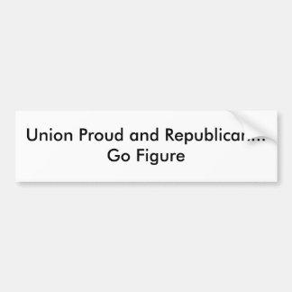 A união orgulhosa e o republicano… vão figura adesivo para carro