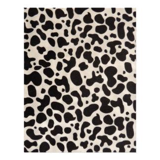 A vaca preto e branco mancha artigos de papelaria papel timbrado