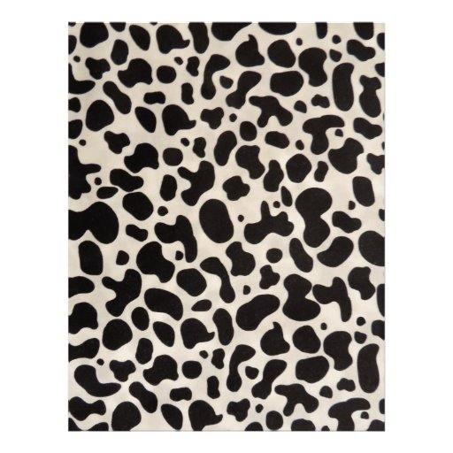 A vaca preto e branco mancha artigos de papelaria  papel de carta
