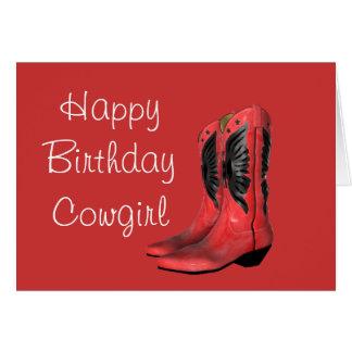 A vaqueira do feliz aniversario carreg o cartão