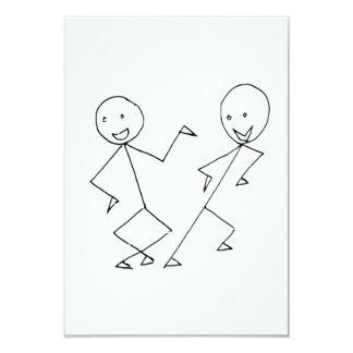 A vara figura a dança convite personalizado