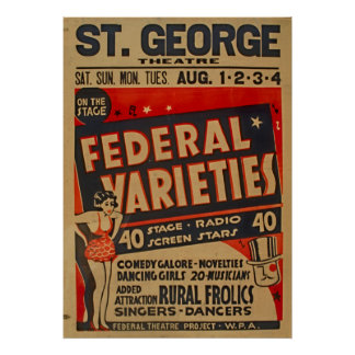 A variedade federal actua o poster 1937 de WPA