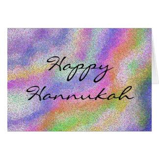 A vela de Hannukah colore o cartão