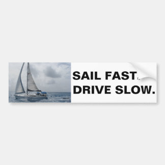 A vela jejua. Conduza lento Adesivo