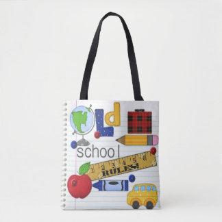 """A """"velha escola ordena"""" a sacola do professor ou bolsa tote"""