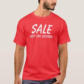 A venda deve terminar sábado camiseta