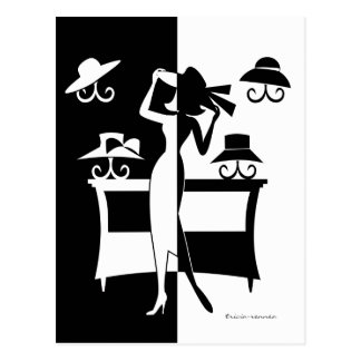 A venda do chapéu cartão postal